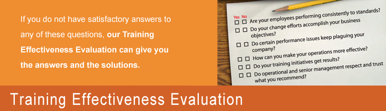 Training Effectiveness Evaluations ALESYS