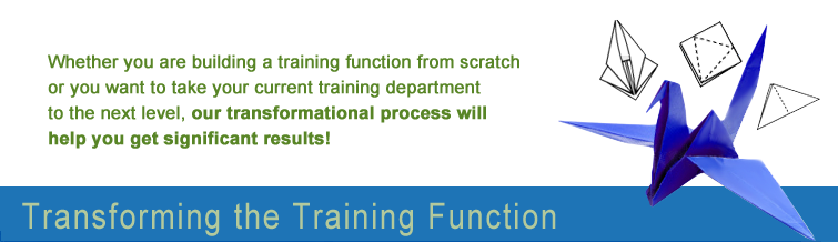 Transforming the Training Function Training